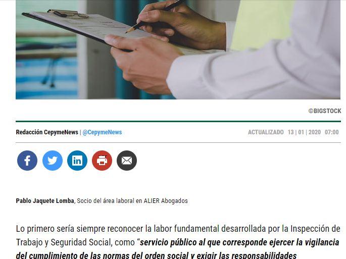 La prueba contra el acta de la inspección de trabajo | Alier Abogados