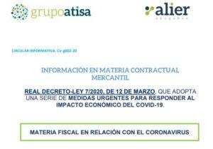 Novedades fiscales RDL 7/2020, de 12 de Marzo de medidas urgentes para responder al impacto económico del COVID-19