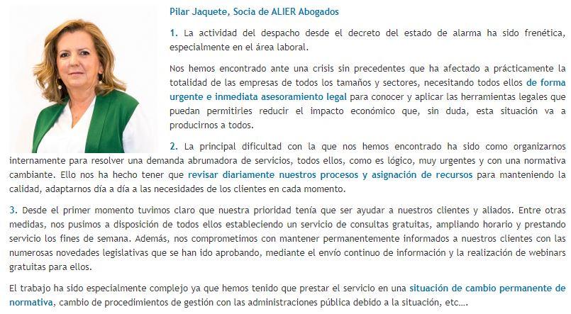 Pilar Jaquete - diariolaley