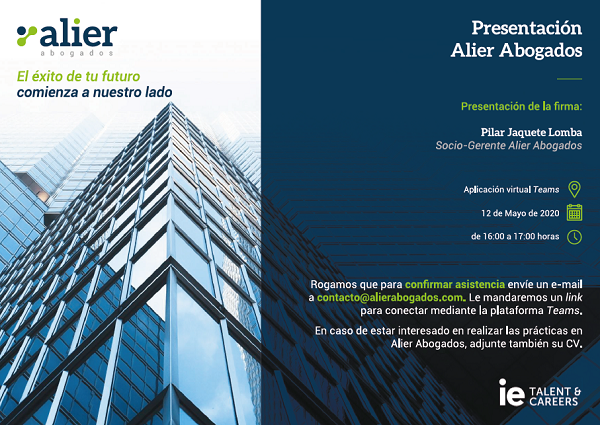 Alier Abogados - Instituto de Empresa: Formación jóvenes abogados
